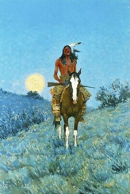 The Outlier by Frederic Remington Giclee Repro Canvas
