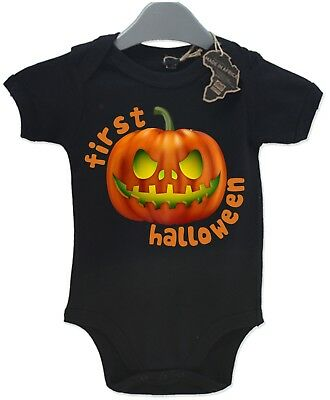 First Halloween Pumpkin Baby Grow Baby Cute Funny Fancy Dress Party Funny EBG44
