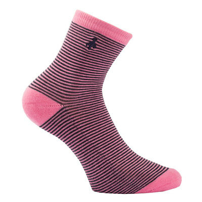 Green Lamb Patterned Golf Socks - Pack of 3 in Navy/Pink