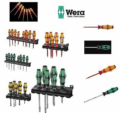 Wera Screwdrivers Slotted Pozi Phillips Lasertip Insulated Sets And More Rdg