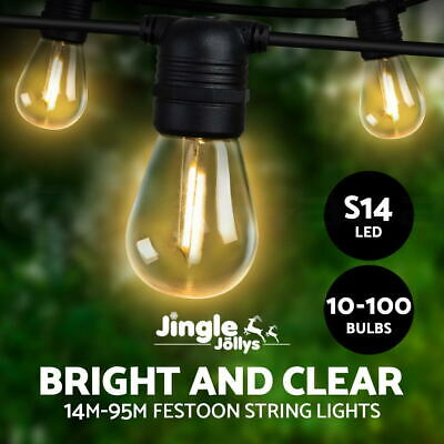 Jingle Jollys 10-100PCS LED Festoon String Lights Kits Wedding Party Outdoor