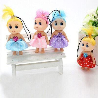 3x Baby Mini Ddung Doll Toy Confused Doll Key Chain Phone Pendant Ornament LA