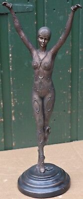 Beautiful Large Art Deco Type Figure Of Lady With Outstretched Arms