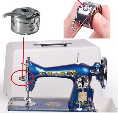Domestic Sewing Machine Metal Bobbin Spool Case for Brother Janome Singer FY