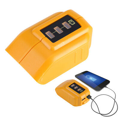 Hot USB Mobile Battery Charger Adapter For Dewalt 14.4V 18V 20V Slide DCB090 CO