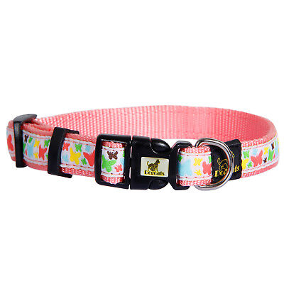Durable Butterfly Basic Collars Adjustable Nylon Dog Collar For Small Mini Size
