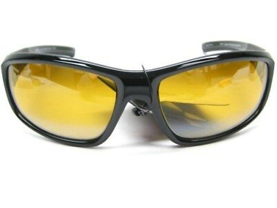 STRIKE KING S11 Optics Shiny Black BRISTOL Yellow POLARIZED Lens Sunglasses!