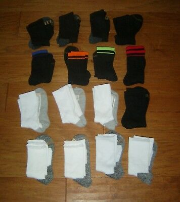 Boy's Youth Active Crew Sock Lot, 16 Pair