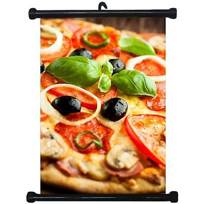 sp217111 Pizza Wall Scroll Poster For Shop Decor Display
