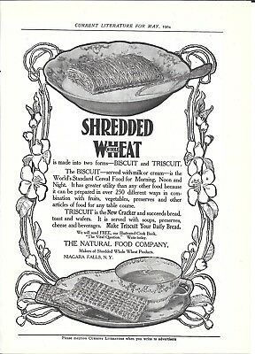 1904 Shredded Wheat Biscuit & Triscott Cereal Ad