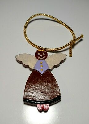 Vintage 2008 Sebastian Miniatures Gingerbread Angel Christmas Ornament #8543