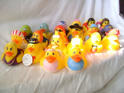 New Set Of 20 Large Floating Rubber Ducks In Outfits Baby Pirate Zombie Love