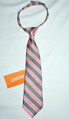 Gymboree Picnic Party Pink and Gray Striped Velcro Tie 2T-5T Toddler Boys NWT