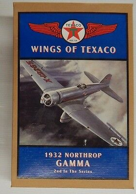 Wings of Texaco 1932 NORTHROP GAMMA 2nd In The Series Coin Bank - NIP