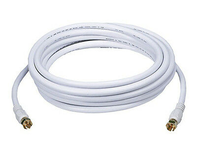 Monoprice 15ft RG6 (18AWG) 75Ohm, Quad Shield, CL2 Coaxial Cable with F Type