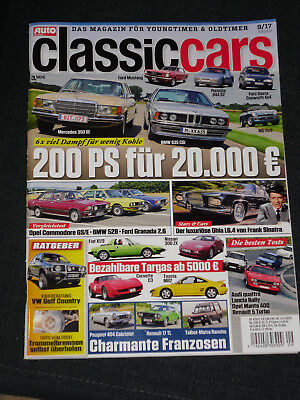 Zeitschrift Classic Cars Classiccars Heft 9 / 2017 Oldtimer Youngtimer