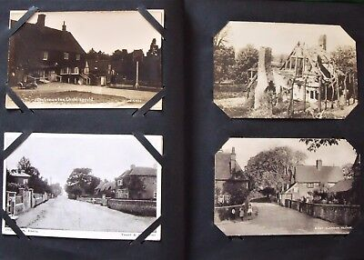 Collection x 200 UK Topographical Postcards Edwardian to 1930s In Album