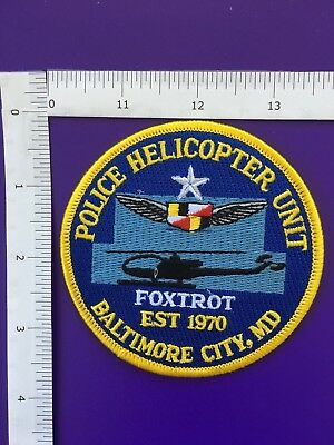 Baltimore Maryland Police Helicopter Unit  Shoulder Patch