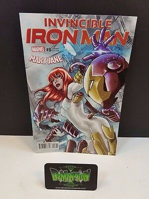 Invincible Iron Man #8 Mary Jane Variant NM Marvel Comics Spider Man Gwen Venom
