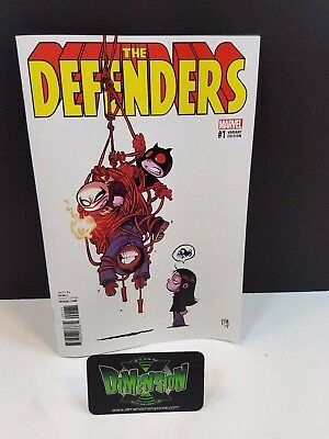 Defenders #1 Skottie Young Variant NM Marvel Comic Iron Fist Luke Cage Daredevil