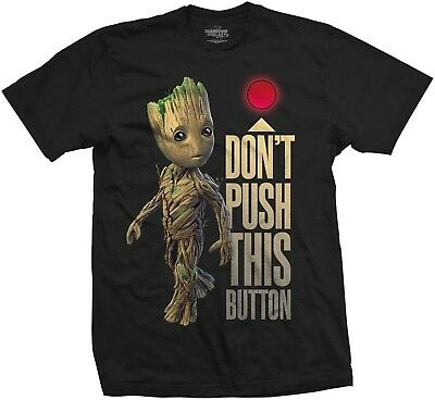 MARVEL GUARDIANS OF THE GALAXY VOL. 2 Groot Don't Push This Button T-SHIRT MERCH
