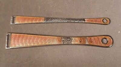 Sterling and Guilloche Enamel Pair of Ribbon Threaders or Bodkins