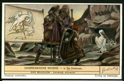 Pelican As A Mythical Bird Pelikan Egypt Afterlife c60 Y/O Trade Ad  Card