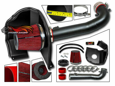 MATTE COLD AIR INTAKE KIT + HEAT SHIELD FOR GMC 14-17 Sierra 1500 5.3L 6.2L V8