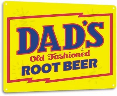 Dad's Old Fashioned Root Beer Vintage Retro Tin Metal Sign