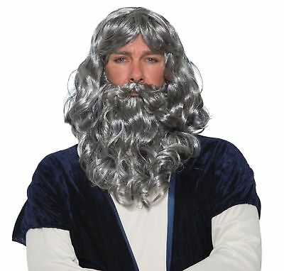 Biblical Grey Gray Wig and Beard Kit Adult Costume Accessory NEW Moses
