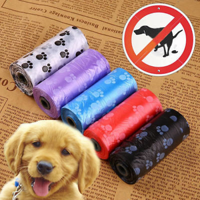 5 Rolls of 75 Bags Pet Dog Cat Waste Poop Poo Refill Core Pick Up Clean-Up Bags
