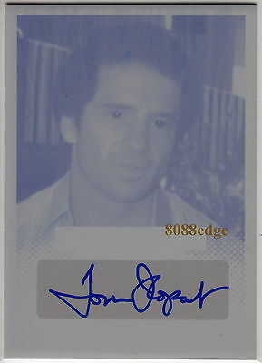 2013 Pop Century Print Plate Auto: Tom Wopat #1/1 One Autograph Dukes Of Hazzard
