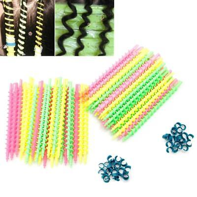 Women Pro Styling Barber Hairdressing Spiral Hair Perm Rod Clips Salon Tool Q
