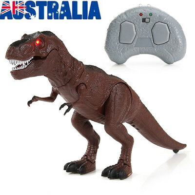 Walking Dinosaur Toy Model with Remote Control Light-Up Sound Action Figure Gift