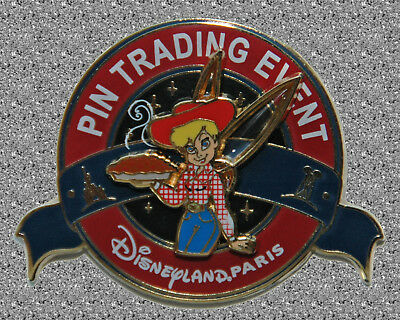 DISNEY Pin LE 400 DLP -  Gourmet Pin Trading Event Pin - Tinker Bell & Pie