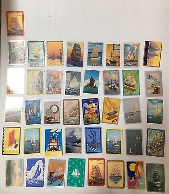 SWAP CARD LOT OF 42 YACHTS, SHIPS, BOATS ETC FROM 1960's/70's