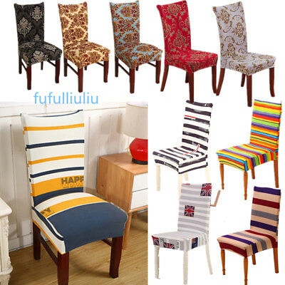 Dining Chair Covers Polyester Strech Dining Room Chair Protector Slipcover Decor