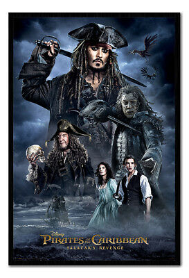 Framed Pirates Of The Carribean Darkness Poster New