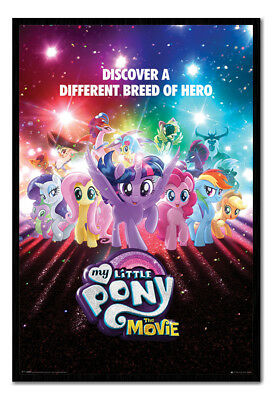 Framed My Little Pony Movie Discover A Different Breed Of Hero Poster New