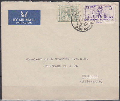 1955 Syria Cover Aleppo to Germany, Definitives: Industry [cm935]