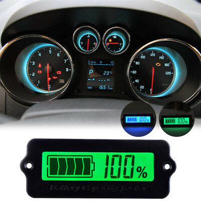 12V/24V/36V/48V LCD Lithium Battery Capacity Indicator Digital Voltmeter Tester