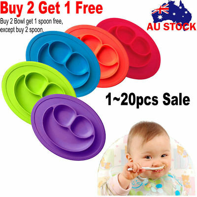 Lot sell Silicone Mat Baby Kid Table Food Dish Suction Tray Placemat Plate Bowl