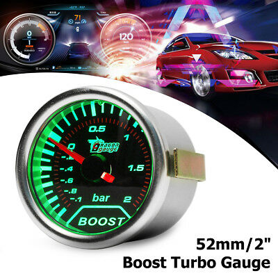 2'' 52Mm Led Manometro Verde Turbo Boost Strumento Pressione Vacuometro Per Auto