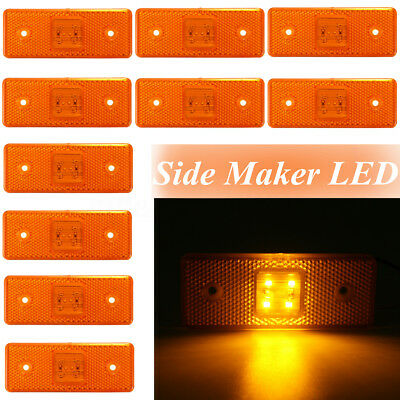 10x Amber LED 24V Trailer Indicator Side Marker Light Lamp Car Boat Truck Lorry