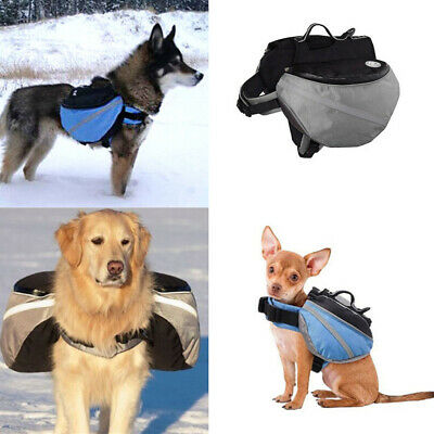 Pet Dog Backpack Saddle Bag Harness Back Pack Outdoor Travel Hiking Camping