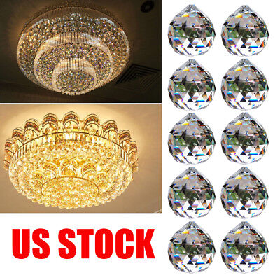 10PCS Crystal Ball Lamp Lighting Pendants Chandelier Parts Home Accessorie
