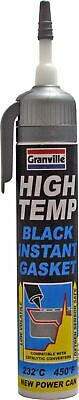 Granville High Temperature BLACK Instant Gasket Silicone Sealant Can 200ml-0458