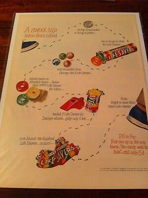 Vintage 1951 Life Savers Candy Sweet Trip Home From School Print Art ad