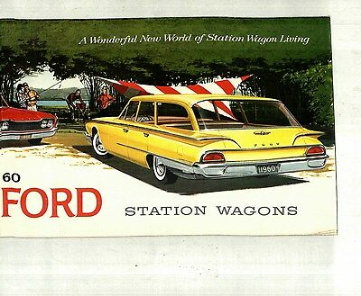 1960 Ford Station Wagons Deluxe Color Brochure