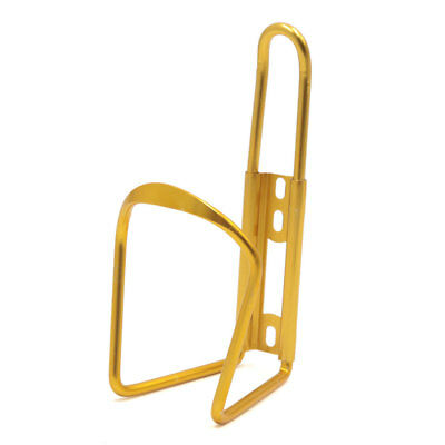 Aluminum Alloy MTB Bike Bicycle Cycling Water Bottle Rack Cage Holder Gold Tone